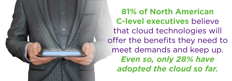 More C-Suite executives rely on business intelligence from the cloud more and more each day.